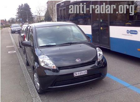 Radar Mobile avec Détecteur de Vitesse intégré dans la Portière d'une Voiture Banalisée