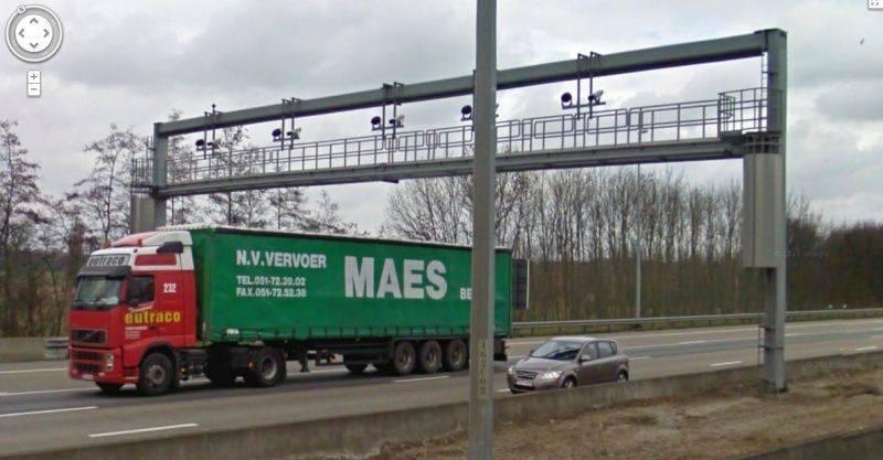 carte radars troncons belgique