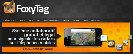 Application Radars iphone TrackerTag